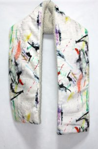 CILANDSIA BOA NECK WARMER  ARTWORK 0032 WHITE
