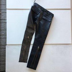 画像3: blackmeans  leather zip pants BLACK