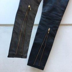 画像5: blackmeans  leather zip pants BLACK