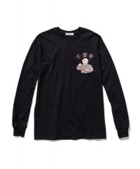 F-LAGSTUF-F  Don't Come-02 L/S TEE BLACK