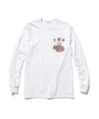 F-LAGSTUF-F  Don't Come-02 L/S TEE WHITE