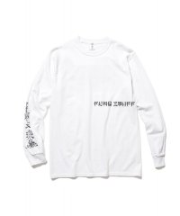 "F-LAGSTUF-F  ""World serpent"" L/S Tee WHITE"
