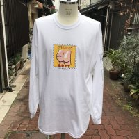 LABRAT BUTT coupon L/S tee WHITE
