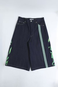 boys in the band別注 TENDER PERSON FLAME PATTERN  SHORTS INDIGO