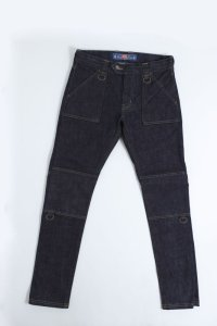blackmeans COTTON ZIP PANTS SINGLE INDIGO