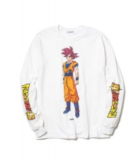 "F-LAGSTUF-F × DRAGON BALL  ""GOKU"" L/S Tee WHITE"