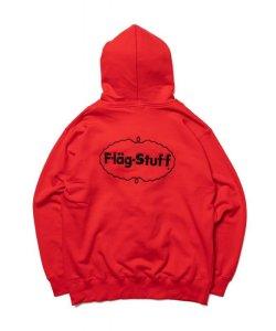 画像2: F-LAGSTUF-F  ICE LOGO ZIP HOODIE RED