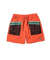 F-LAGSTUF-F  SWIM SHORTS ORANGE×GREEN