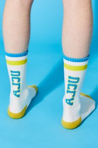 Alexander Lee Chang ALCU HI SOCKS WHITE