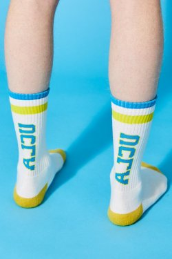 画像1: Alexander Lee Chang ALCU HI SOCKS WHITE