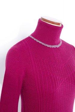 画像4:  rurumu: 20AW mix rib turtleneck knit magenta