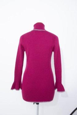 画像2:  rurumu: 20AW mix rib turtleneck knit magenta