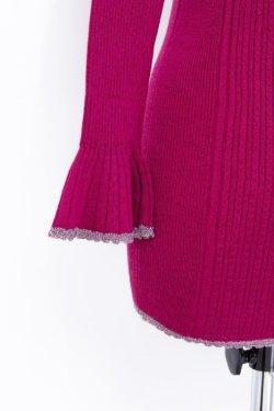 画像3:  rurumu: 20AW mix rib turtleneck knit magenta