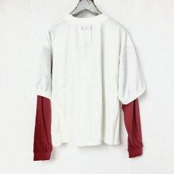画像2: killremote  200205 レイヤードスリーブTシャツ 白