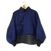 AVALONE YB-49 REMODELING WOOL JACKET D-BLUE