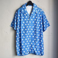 LABRAT×不純喫茶DOPE Hawaiian Shirt BLUE