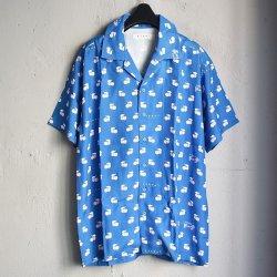 画像1: LABRAT×不純喫茶DOPE Hawaiian Shirt BLUE